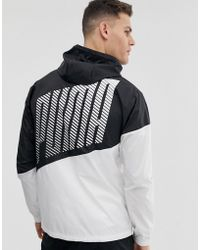 7b48de1f3172 PUMA - Training Colour Block Windbreaker Jacket In Black - Lyst