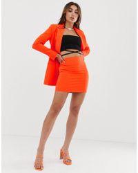 ASOS Pop Suit Mini Skirt - Orange