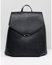 Mango Clean Faux Leather Back Pack - Black