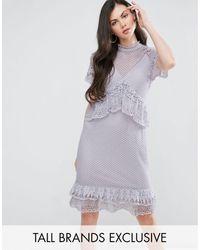 Y.A.S - Y.a.s Studio Tall Lace Ruffle Midi Dress - Lyst
