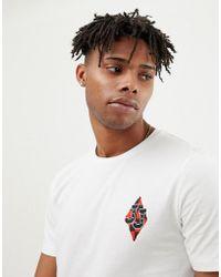 Jack & Jones - Originals T-shirt With Checkerboard Back Graphic - Lyst