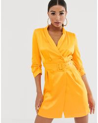 River Island Belted Blazer Dress - Orange