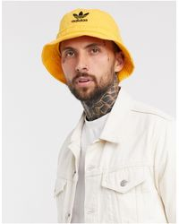 adidas Originals Washed Bucket Hat - Yellow