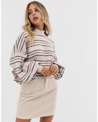 Free People - Steph High Neck Balloon Sleeve Top - Lyst