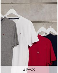 Hollister 5 Pack Icon Logo T-shirt - Multicolor