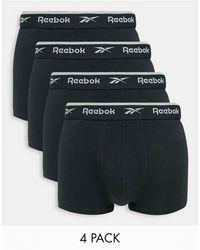 Reebok Набор Из 4 Пар Боксеров-брифов -черный Цвет