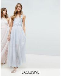 Coast Exclusive Corwin Multi Tie Maxi Dress - Metallic