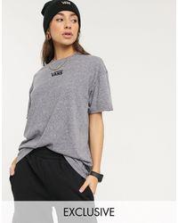 Vans T-shirt Met Oversized Logo Op - Grijs