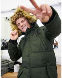 Schott Nyc - Parka caqui con capucha extraíble - Lyst