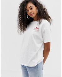 f7062ed0f79d3 Pull Bear - Stranger Things Friend Dont Lie Motif T Shirt In White - Lyst