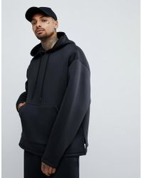 ASOS DESIGN - Oversized Hoodie In Black Scuba - Lyst