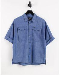 G-Star RAW Joosa - Camicia di jeans con bottoni, colore blu