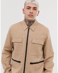 ASOS - Utility Jacket In Tan - Lyst