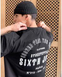 Sixth June T-shirt avec imprimé Sooner Than You Think dans le dos - Noir