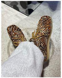 Clarks – Wallabee – Stiefel mit braunem Tiermuster
