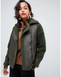 Whistles - Mix Teddy Biker Jacket - Lyst