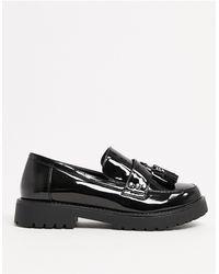 Glamorous Chunky Flat Shoes - Black