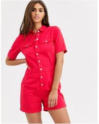 Vila Playsuit - Rood