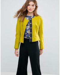 Closet Closet Zip Pocket Wool Jacket - Green