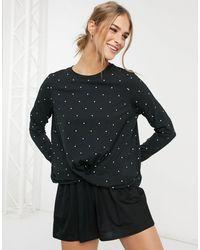 Vero Moda Sweatshirt With Twist Detail - Black