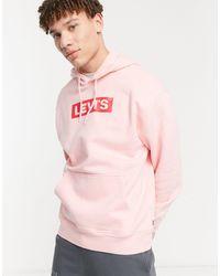 Levi's Худи Свободного Кроя Пудрово-розового Цвета С Логотипом Youth-розовый Цвет