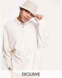 Collusion Oversized Long Sleeve Polo Shirt - Multicolour