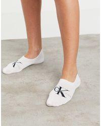 Calvin Klein Ck Jeans Logo Footie Socks - White