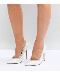 ASOS DESIGN - Asos Phoenix Wide Fit Bridal High Heels - Lyst