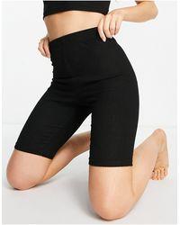 ASOS Mix & Match Lounge Super Soft Rib legging Short - Black