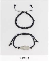 ASOS Armbandset - Zwart