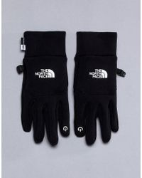 The North Face - North Face E-tip Fleece Gloves In Black - Lyst