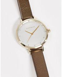 Karen Millen Leather Strap Analogue Watch - Brown