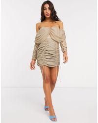 ASOS Mini-jupe froncée (ensemble) - Taupe - Neutre