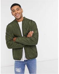 New Look Стеганая Куртка Цвета Хаки -зеленый