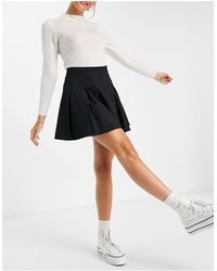 Lola May Pleated Tennis Mini Skirt - Black