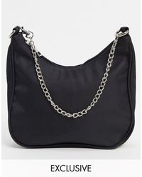 Glamorous Exclusive 90s Shoulder Bag - Black