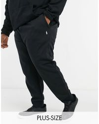 Polo Ralph Lauren Черные Джоггеры С Манжетами И Логотипом С Игроком Big & Tall-черный Цвет