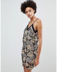 N12H - Midnight Blooms Lace Slip Dress - Lyst