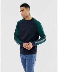New Look Raglan Sweatshirt In Navy - Blue