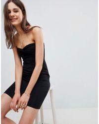 ASOS - Mini Twist Front Bandeau Dress - Lyst