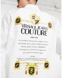 Versace Jeans Couture Белая Рубашка С Логотипом На Спине Couture-белый