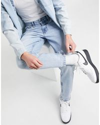 Bershka Vintage Straight Fit Jeans - Blue
