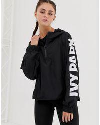 Ivy Park Jacke mit Logo und Reißverschluss - Schwarz
