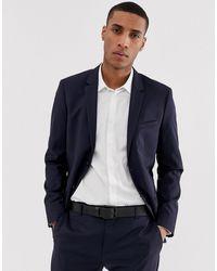 Calvin Klein Приталенный Пиджак -синий