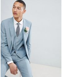 Moss Bros Moss London Skinny Wedding Suit Jacket In Sage