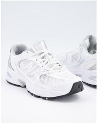 New Balance – 530 – Metallisch glänzende Sneaker - Weiß