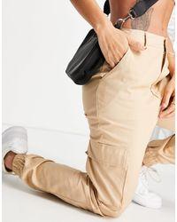 Missguided Pantaloni cargo color sabbia - Neutro