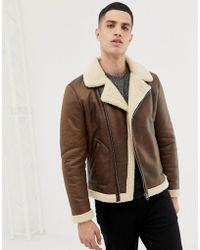Only & Sons Aviator Jacket - Brown
