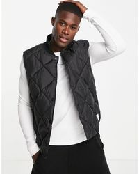 TOPMAN Recycled Quilted Gilet - Black