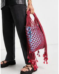 House of Holland Net Tote Bag - Red